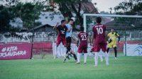 Laga Sulut United versus Tim PON Sulut berlangsung imbang. [IST]